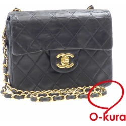Take Chanel chain shoulder bag matelasse Lady's black black leather A35200 CHANEL gold metal fittings here mark slant; shawl deep-discount exemption from taxation A6023914