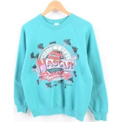 Men S /wbh1770 in the 90s made in Fruit of the Loom FRUIT OF THE LOOM NASCAR NASCAR racing print sweat shirt trainer USA