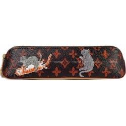 2019 resort collection-limited LOUIS VUITTON Louis Vuitton pen case toe Ruth ELISA Bet marron cat gram (monogram) GI0357 new article (TROUSSE ELIZABETH Marron Catogram(Monogram) GHW)