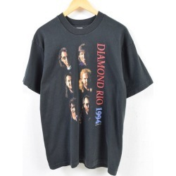 Men L /wbd6793 in the 90s made in Fruit of the Loom FRUIT OF THE LOOM DIAMOND RIO diamond Rio 1994 band T-shirt USA