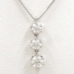 PT900 platinum PT850 necklace diamond 0.253 VS2 0.160 VS2 0.146 VVS2 appraisal used jewelry ★★ giftwrapping for free