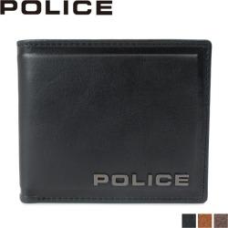 POLICE police wallet folio men leather EDGE SHORT WALLET black camel dark brown black PA-58000 [7/26 Shinnyu load]