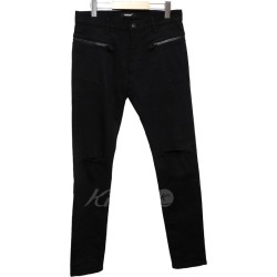 UNDER COVER 18SS waist ZIP knee shop blurring stretch pants black size: 2 (under cover)