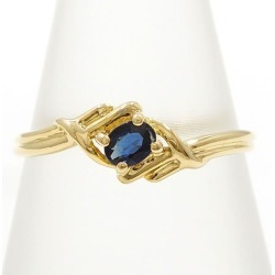 K18 18-karat gold YG yellow Goldring 9.5 sapphire used jewelry ★★ giftwrapping for free