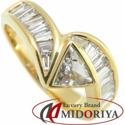Diamond ring K18YG diamond 1.02ct 14.5 18-karat gold yellow gold ring Lady's jewelry /63476