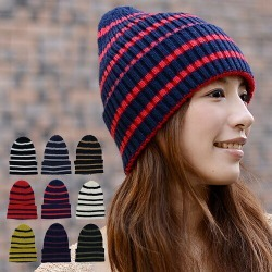 Is Loved, And Rib Horizontal Stripes Knit Hat ワッチニットキャップ Hat Knit Hat Watch