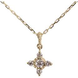 Vendome Aoyama petit cross motif 5P, diamond necklace pendant, natural /K10YG/416-0.8g/0.06ct/ yellow gold /Vendome Aoyama ■ 290897