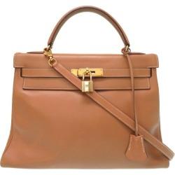 Sewing ヴォーシャモニーナチュラルゴールド metal fittings 0 U carved seal handbag bag tea 0111 HERMES in Hermes Kelly 32