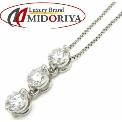 Diamond necklace Pt900x850 diamond 3P platinum Lady's pendant /72389