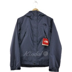 THE NORTH FACE NOVELTY SCOOP JACKET dot pattern mountain parka navy size: M (the North Face)