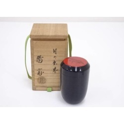 Appearance jujube [tea ceremony / tea set / tea service set / curio / tea / jujube] of 岡本陽斎造漆塗日