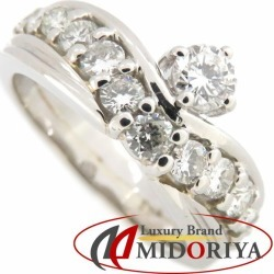 Diamond ring Pt900 diamond 0.21ct 0.63ct 10 platinum ring Lady's jewelry /63447