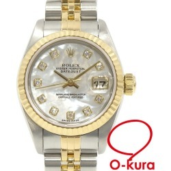 SS YG self-winding watch machine type shell clockface 10P diamond combination deep-discount pawnshop watch exemption from taxation A169096 made in Rolex ROLEX date just Lady's 79173NG automatic car Y turn about 2002