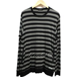 UNDER COVER 15SS horizontal stripe long sleeves pocket cut-and-sew