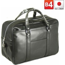 G gusto men Boston bag synthetic leather black 10,021-1