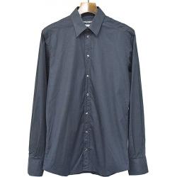 DOLCE & GABBANA Dolce & Gabbana GOLD cotton long sleeves shirt black 39 men