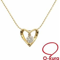Diamond heart motif necklace Lady's K18YG 0.30ct 2.3 g 18-karat gold yellow gold 750 diagram deep-discount pawnshop exemption from taxation A172895