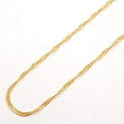 Two K24 24-karat gold YG yellow gold necklace metal approximately 1.4 g approximately 43cm Kihei Kihei double screw used jewelry ★★ giftwrapping for free