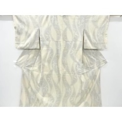 It is getting out blade of grass design texture home Yuki pongee 100 carapace of a turtle kimono (is constipated) sect sou in a change striped wave pattern