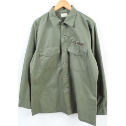 Men L vintage /wbh1847 in the 78s made in U.S. forces true article U.S.ARMY military utility shirt USA