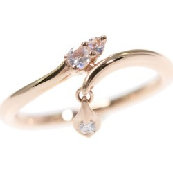 Star jewelry FLOWER DEW PINKIE/ フラワーデユーピンキー 3P, Blue Moon stone diamond ring, ring /K10PG/416-1.0g/0.01ct/1 /#41/2JR0380/STAR JEWELRY ■ 296404