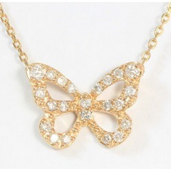 Vendome Aoyama (Vendome Aoyama) necklace butterfly butterfly diamond 0.12ct 18-karat gold pink gold (K18PG) brand jewelry netshop in total