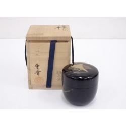 雲斎造雲斎造漆塗銀杏蒔絵中棗 [tea ceremony / tea set / tea service set / curio / tea / jujube]