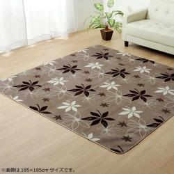 "Rag carpet ""WS planter"" brown approximately 185*185cm (hot carpet correspondence) 9810936"