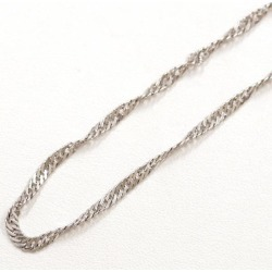 Two PT850 platinum necklace metal approximately 6.6 g approximately 39cm Kihei Kihei double screw used jewelry ★★ giftwrapping for free