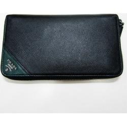 Prada PRADA round fastener long wallet 2ML188 wallet long wallet men ★★ found on Bargain Bro India from Rakuten Global for $380.00