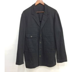 Y's for men Wise four men back of the neckband chambray cotton T-cloth cover oar jacket MB-J10-024 Yohji Yamamoto Pour Homme ヨウジヤマモトプールオムテーラードブルゾン coat with unlined back outer tops black men S Mikunigaoka store 301924 RM0445I