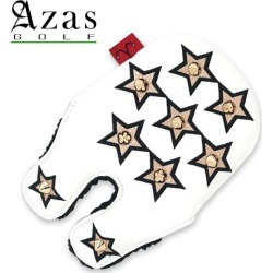 Azas Golf SELMO Head Cover 19sm made in head cover 合皮星 leather studs Japan for the アザスゴルフ 79WH52 Selmo head cover Stella GD X black (GD)PM putter
