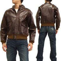 Leather Flight Jacket Horseskin Rough Wear