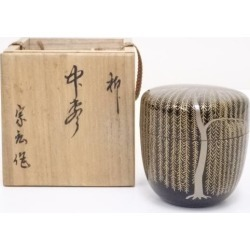 Jujube [tea ceremony / tea set / tea service set / curio / tea / jujube] in the sect Kozo lacquering willow lacquer work
