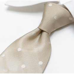 Men silk 100% dot beige / Italy brand gift ITALY made in TOM FORD Tom Ford tie Italy found on Bargain Bro Philippines from Rakuten Global for $149.00