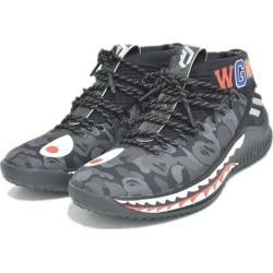 A BATHING APE X adidas Dame 4 BAPE sneakers black X gray size: 25cm (アベイシングエイプアディダス)