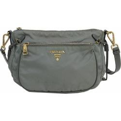 Take PRADA (Prada) long shoulder bag slant; gray nylon netshop