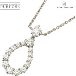 Harry Winston loop by diamond necklace 40cm PT platinum extra large HARRY WINSTON