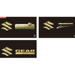 """Parts sea bass genuine parts dress-up one point option accessories article for the """"SPACIA"""" pure MK53S emblem (gold) rear"""