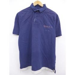 Old clothes short sleeves rugby shirt Ralph Lauren Ralph Lauren swing top dark blue navy XL size used men tops