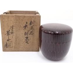 華山造漆網蒔絵利休棗 [tea ceremony / tea set / tea service set / curio / tea / jujube]