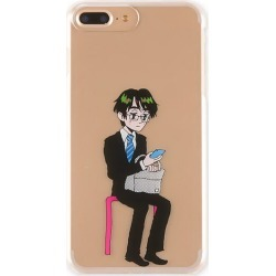 OM-0006-IP7P iPhone8Plus/7Plus-adaptive back case Kaneo-ya Sachiko Kaneoya Sachiko office worker