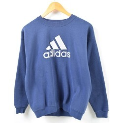 Men L /wbd0434 in the 90s made in Adidas adidas flock print logo sweat shirt trainer USA