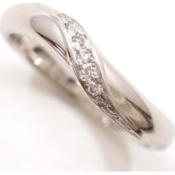 セントピュール PT1000 ring 5 diamond sapphire used jewelry ★★ giftwrapping for free