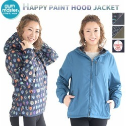 Gym master happy paint man and woman combined use RV food blouson reversible bulldog gym master reversible casual outdoor zip up outer