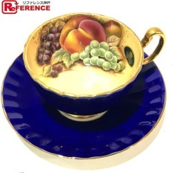 AUTHENTIC Aynsley Cup and saucer Orchard Gold Fine Bone Chine Men's Women's Other Blue x Gold Pottery