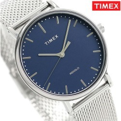 Timex Fairfield men watch TW2T37500 TIMEX clock navy