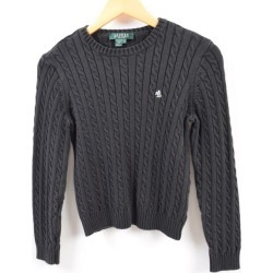 Ralph Lauren Ralph Lauren LAUREN Lauren cable knitting cotton knit sweater Lady's M /wbg2590