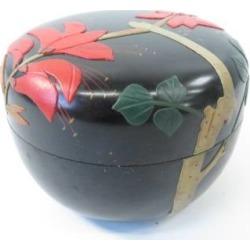 Okinawa lacquerware jujube (with a protection box) [tea ceremony / tea set / tea service set / curio / tea / jujube]