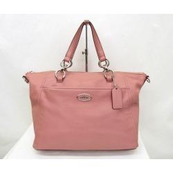 COACH coach handbag Collett Satchell F34508 pink leather Lady's bag Higashiosaka store 339640 RYB3405